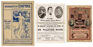 Bodie, Dr. Walford. Three Walford Bodie Theatrical
