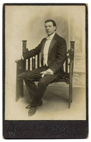 Carmo (Harry Cameron). Cabinet Card Portrait of The