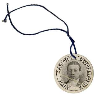 Carmo (Harry Cameron). Hanging Paper Token of Carmo the