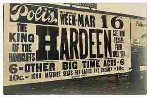 Hardeen (Theodore Weisz). Hardeen Real-Photo Postcard.
