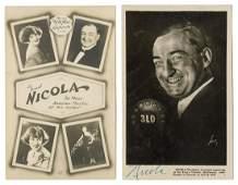 Nicola, Will (William Mozart Nicol). Two Nicola RPPCs,