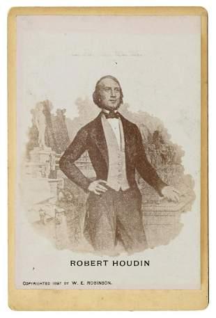 Robert-Houdin, Jean Eugene. Cabinet Card Portrait of