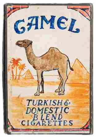 Camel Cigarette Drawer Box. European, 1940s. A large