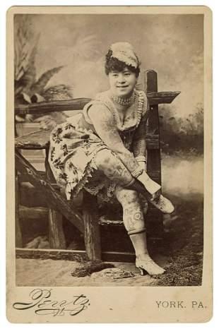 [TATTOO] Cabinet Photo of Irene Woodward, Tattooed