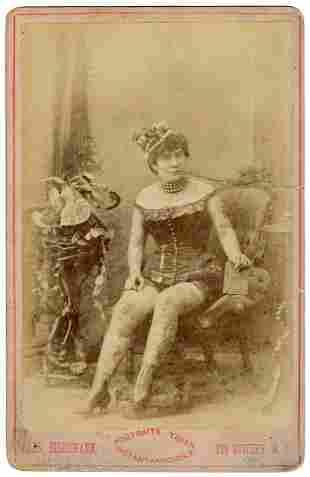 [TATTOO] Cabinet Photo of Nora Hildebradt, Tattooed