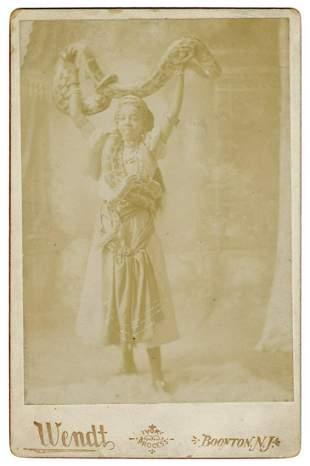 BRISTER, Eva. Cabinet Photo of Princess Sotanki, Snake
