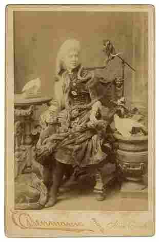 CLAYTON, Mamie. Cabinet Photo of Mamie Clayton, Albino