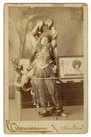LATASKA, Lulu. Cabinet Photo of Snake Charmer Lulu