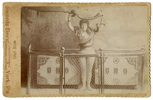 Cabinet Photo of Miss Uno, Circassian Snake Charmer.