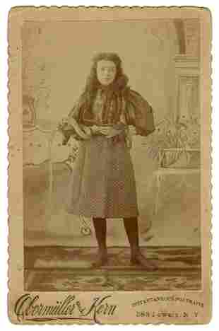 Cabinet Photo of a Child Snake Charmer. New York: