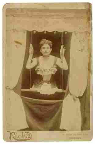Cabinet Photo of a Half-Woman / Legless Marvel.