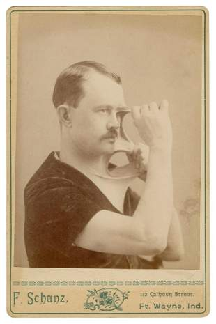 "MORRIS, James. Cabinet Photo of James Morris, """