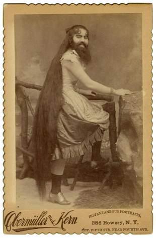 JONES, Annie. Cabinet Photo of Annie Jones, Bearded