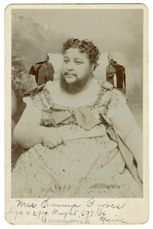 Cabinet Photo of Emma Groves, Bearded Fat Lady. Circa