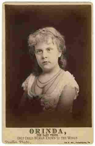 """Cabinet Photo of """"Orinda, the Baby Venus."""""""