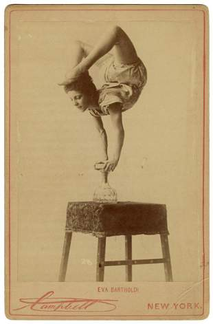 Cabinet Photo of Eva Bartholdi, Contortionist. New