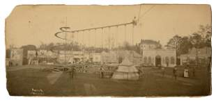 Early American Carnival Panorama Photograph. Savannah,