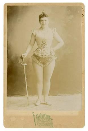 Cabinet Photo of Victorina, Champion Sword Swallower.