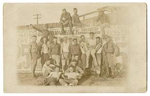 RPPC of Soldiers at the Barnum & Bailey Circus. Real