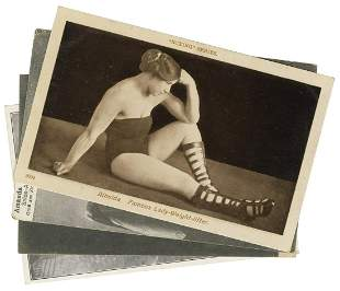 [STRONGWOMEN] Four Postcards of Strongwomen. Including