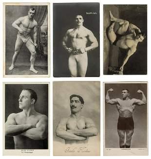 Six Postcards of Strongmen / Bodybuilders. 1900s/10s.