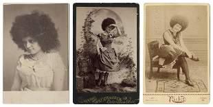 [CIRCASSIAN LADIES] Three Cabinet Cards of Circassian