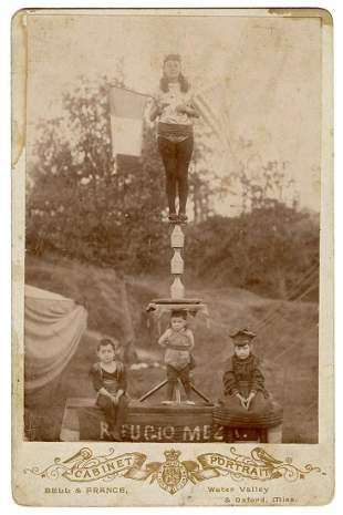 Photograph of the Mezu Family, Acrobats. Oxford, MS: