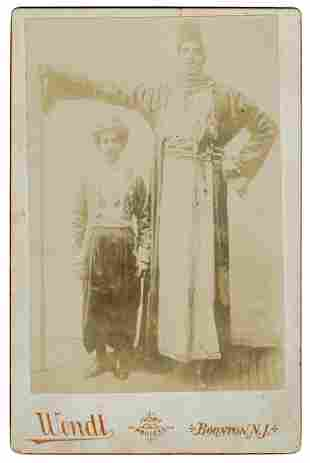 The Egyptian Giant Sideshow Cabinet Card. Boonton,