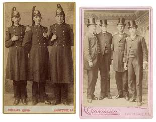 """Two Cabinet Cards of the Shields Brothers, """"Texas"""