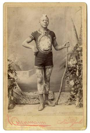 Photograph of J.W. Nash the Leopard Boy. New York:
