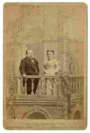 Photograph of Tom Thumb and his Wife, Lavinia Warren.