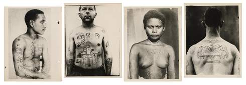 [TATTOO] Four Photographs of Tattooed People. France: