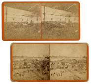 Early Cooper & Bailey Circus Stereoview Photographs.