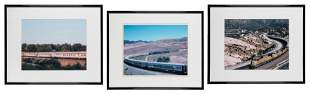 Trio of Framed Circus Train Photographs. Includes
