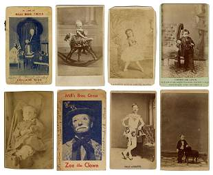 Lot of 8 Circus and Sideshow Performer Photographs.