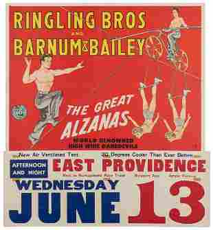 FREELAND, Forrest Dean (American). Ringling Bros. and