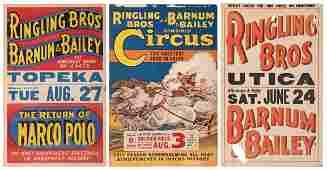 Trio of Ringling Bros. and Barnum & Bailey Circus