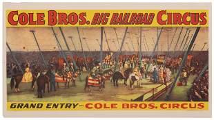 Cole Bros. Big Railroad Circus / Grand Entry. Circa
