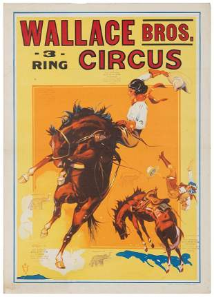 Wallace Bros. 3 Ring Circus / [Wild West / Rodeo].
