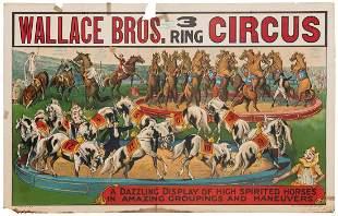 Wallace Bros. 3 Ring Circus / Dazzling Display of
