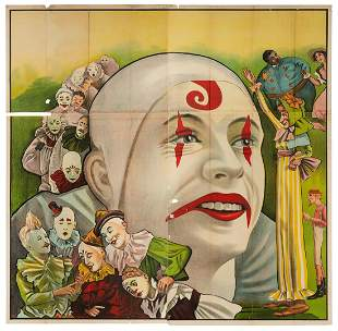 Clowns Six-Sheet Stock Poster. American, ca. 1910s/20s.