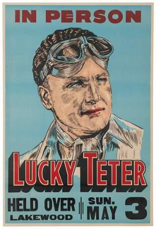 Lucky Teter. Daredevil / Stunt Driver Auto Racing