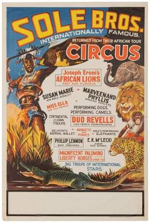 Sole Bros. Internationally Famous Circus. Sydney: