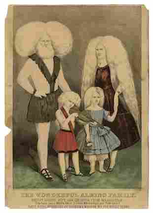 The Wonderful Albino Family. New York: Currier & Ives,