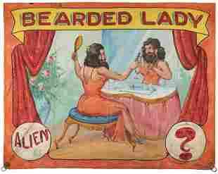 JOHNSON, Fred G. (American, 1892-1990). Bearded Lady