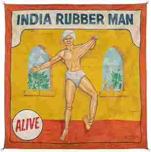 India Rubber Man Sideshow Banner. Tampa, FL: Jack