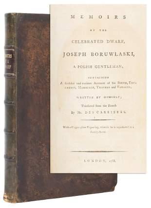 BORULASKI, Joseph. Memoirs of the Celebrated Dwarf,