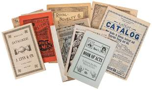[AMUSEMENTS AND NOVELTIES] Nine Early Catalogues.