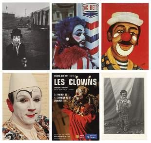 Album of Over 250 Clown Postcards. Bulk 1990s.