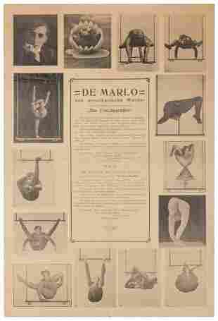 De Marlo (Contortionist) Advertisement. Circa 1920s.